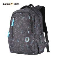 卡拉羊双肩包 男士背包学生书包休闲旅行电脑包大容量CX5672