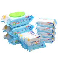 朵朵云 婴儿手口湿巾组合装 湿纸巾80抽*3包+25抽*4包+10抽*5包
