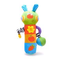 LALA布玩小兔摇棒 婴儿牙胶摇铃 0-1岁宝宝手抓玩具 新生儿手摇铃
