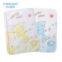 云儿宝贝 可爱小象带身高尺婴儿隔尿垫 柔软舒适宝宝防水尿布垫