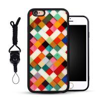 创意方格iPhone6手机壳硅胶苹果6plus手机套挂绳6s新款全包女外壳