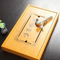 尚帝 竹制盛水茶盘(海纳百川) 排水式茶盘特价茶海 功夫茶具S-2014WPCP33D