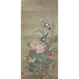 1478    徐熙《花鸟》    宋徽宗御提,多位名家收藏章