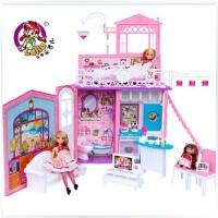 全店满99包邮!乐吉儿甜甜屋洋布芭比娃娃套装大礼盒正品2014可儿女孩玩具正品