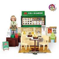 乐吉儿 梦幻麦当劳H23B 洋布 芭比娃娃 套装礼盒 六一儿童节礼物 女孩过家家