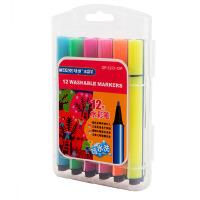 MARCO 马可 水彩笔套装12 18 24色儿童 三角粗杆可水洗 无毒 涂鸦笔1232