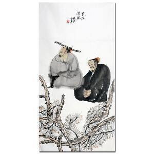 中美协理事 袁武【共沐清风】137*68cm HZ5090