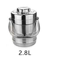 不锈钢保温提锅 三层提锅 保温桶 保温饭桶 便当盒 大容量提锅双层保温桶学生便当盒 2.8L