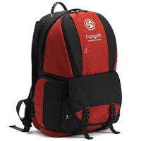 双肩摄影包 单反相机包 专业数码微单摄影包多功能防盗旅行包 红色 28*18*48CM