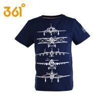 361度童装 男童装短袖T恤儿童中大童学生夏季纯棉短T恤
