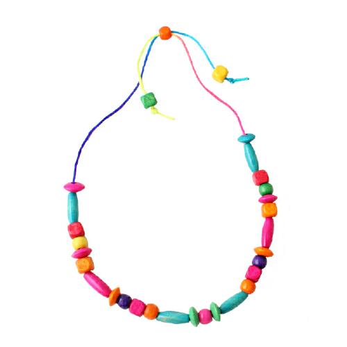 串珠项链五彩木质儿童