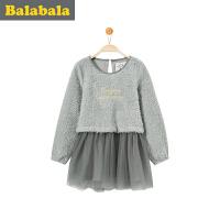 巴拉巴拉童装 女童连衣裙中大童休闲裙子 冬装儿童学生淑女裙