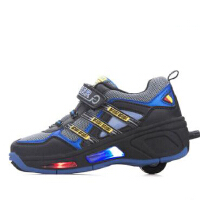 时尚秋冬款滑轮爆走鞋带轮子的运动童鞋 女儿童自动带灯款暴走鞋男童