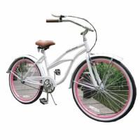 复古自行车女款26寸哈雷型海滩城市淑女 公路 山地 公路车 山地车 粉红色 26英寸