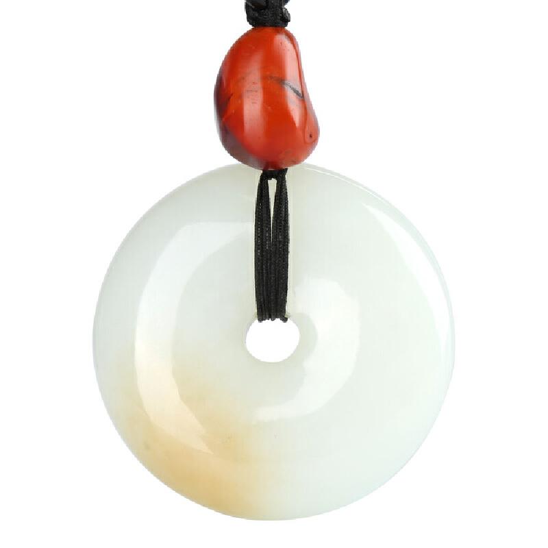 平安扣配饰南红玛瑙吊坠项链(附证书,直径约50厚约15m,南红20*16mm)