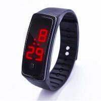 (限拍1个)新款二代LED手表时尚运动硅胶电子手表儿童学生金属扣墨镜LED手表