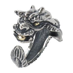 戴和美珠宝首饰戒指 S925银戒指龙头戒指指环