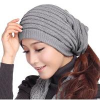 冬天潮毛线帽男士帽子 简约舒适冬季帽子女士帽子秋春天针织帽