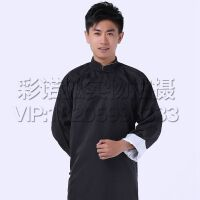 男相声大褂演出服  儿童表演工作服舞台时尚长袖长衫相声服中式长袍