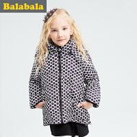 巴拉巴拉童装女童棉衣 中大童学生上衣冬装 儿童棉袄外套女