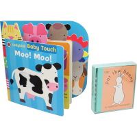 【英文原版】Baby Touch Flip-Flap Book 2册儿童启蒙大开本纸板书绘本触摸书