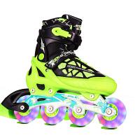 动感溜冰鞋成人 可调闪光儿童套装直排轮成年轮滑鞋 青少年滑旱冰鞋男女