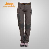 【特价清仓】Jeep/吉普 女士夏季户外速干透气轻薄休闲徒步长裤J636213047