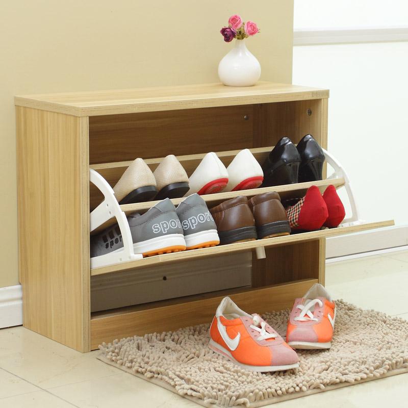 美达斯 鞋凳柜 换鞋凳鞋柜 简约翻斗单门鞋柜 门厅简易鞋架组合 坐式