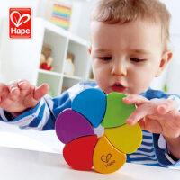 德国hape彩虹摇铃 多功能创意1-2岁婴儿宝宝益智早教智力玩具