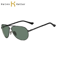 海伦凯勒男士太阳眼镜 潮驾车户外偏光镜蛤蟆镜复古墨镜H1374