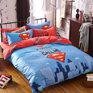 OLYI 纯棉床上用品四件套 全棉斜纹活性印花床单式家纺四件套 城市男孩床品四件套 床上四件套