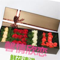馨情欣恋鲜花速递鲜花礼盒送女友送爱人送闺蜜北京上海武汉广州全国同城鲜花速递多色玫瑰1314造型鲜花礼盒