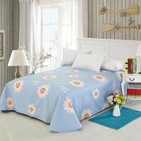 当当优品 纯棉斜纹印花单人床单 160*230cm 向阳花(蓝)