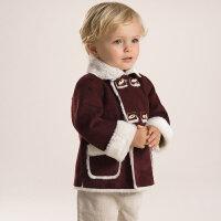 davebella戴维贝拉男童装秋冬保暖外套 男宝宝加绒外套26076