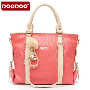 DOODOO 2017新款女士包包女包大包韩版潮撞色女包手提单肩斜挎多用多功能大包包 D2202 【支持礼品卡】