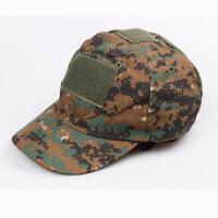 休闲户外个性运动迷彩魔术贴棒球帽不闷热干爽舒适透气可调节大小军迷装备圆顶帽