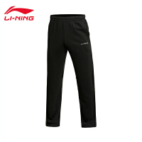 李宁男装训练系列舒适平口运动卫裤男士运动服AKLJ311