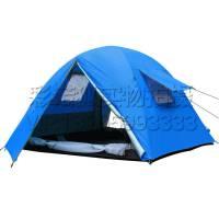 户外3-4人钓鱼防雨遮阳罩 公园沙滩休闲双层帐篷 草地郊外野餐露营帐篷