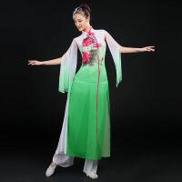 新款舞蹈服装女士广场舞伞舞民族演出服独舞古典舞秧歌服扇子舞