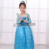 万圣节儿童服装冰雪奇缘艾莎公主裙女童幼儿动漫cos夏季纱裙演出服