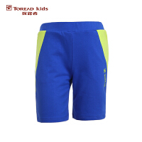 探路者TOREAD品牌童装 户外运动 夏装男童女童拼接针织运动短裤 儿童短裤