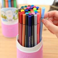 真彩桶装水彩笔18色24色36色可水洗无毒学生儿童彩色笔 套装画笔