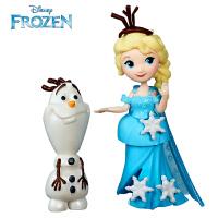 孩之宝 迪士尼 冰雪奇缘迷你人物2只装人偶娃娃 儿童玩具礼物