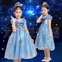 六一儿童灰姑娘公主裙迪士尼同款花童婚纱礼服生日蓬蓬裙演出服