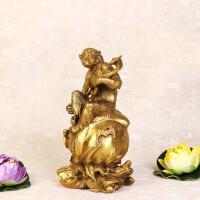佛具风水纯铜猴子摆件大号铜如意猴工艺品家居饰品吉祥物