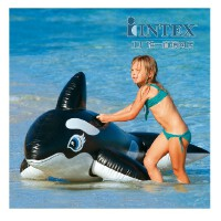 INTEX58561戏水大黑鲸坐骑 儿童充气座骑 水上玩具 游泳辅助工具