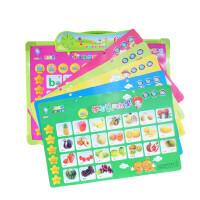 乐乐鱼11合一画板有声挂图发声学习卡片早教识字卡片拼音卡片有声画板挂板语音有声读物6种学习功能