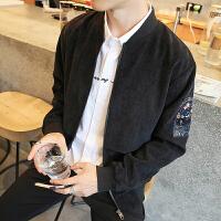 秋季外套男士立领修身长袖夹克短款韩版修身薄款青年休闲棒球服男