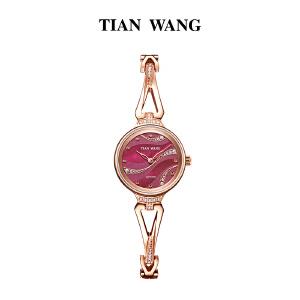 新品 天王女表正品 石英表女士钢带圆形手表女 时尚潮流LS3852