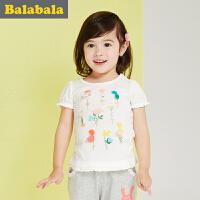 巴拉巴拉女童短袖t恤小童宝宝上衣童装夏装儿童T恤